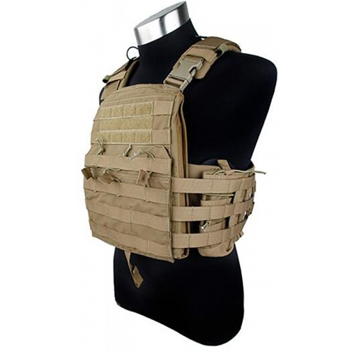 TMC Naval Combat Plate Carrier Vest 2016Ver (Coyote Brown)