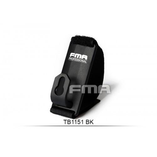 FMA Aluminum Belt Mount Sling Fixed Anchor Hook Clip (Black)