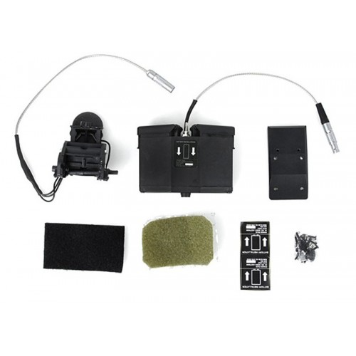 Tier None Gear ANVIS 9 NVG Mount Dummy Set with Battery Case (Black)