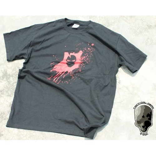 TMC Red Skull Fighter Style T Shirt
