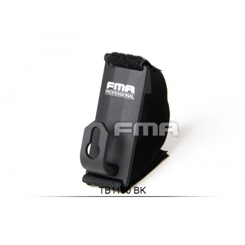 FMA Aluminum Shoulder Mount Sling Fixed Anchor Hook Clip (Black)