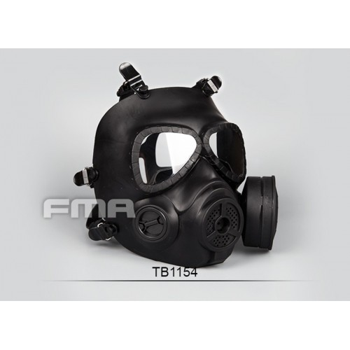 FMA Dummy Toxic Gas Full Face Mask with Fan (Black)