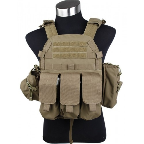 TMC MP94A Modular Plate Tactical Vest with Pouch (Coyote Brown)