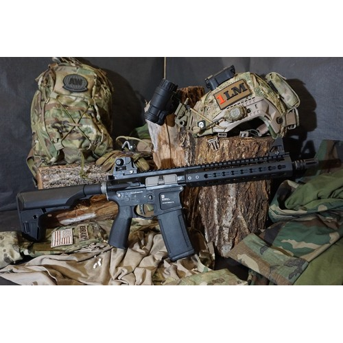 PTS Mega Arms Licensed MKM CQB GBB Gas Blowblack Rifle by KWA