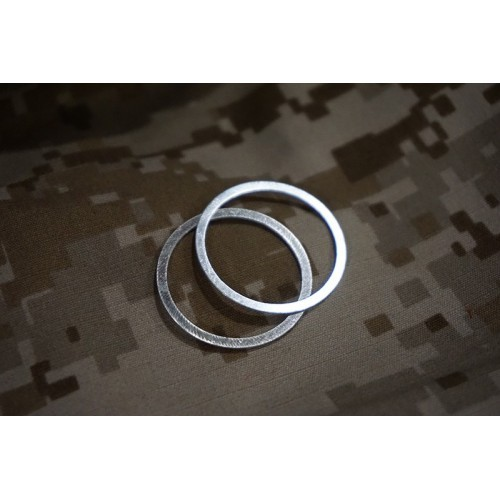Iron Airsoft 0.5mm Thick Adjustable Barrel Nut Washer Set