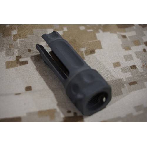 Iron Airsoft Triple Prong Metal Flash Hider