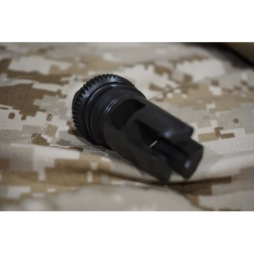Iron Airsoft AAC Style 5.56 Brake Out Steel Flash Hider