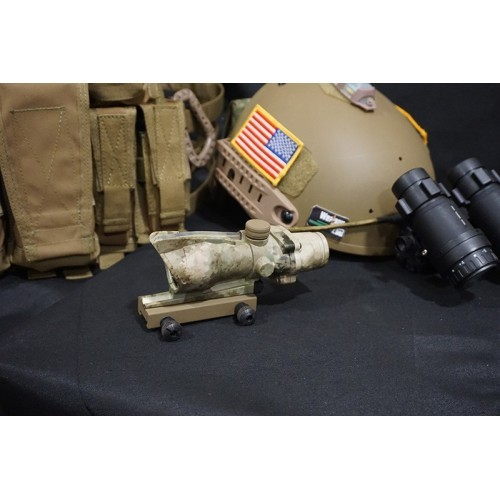 Mars Tech 1X Tactical Scope with Green Chevron Reticule Illumination