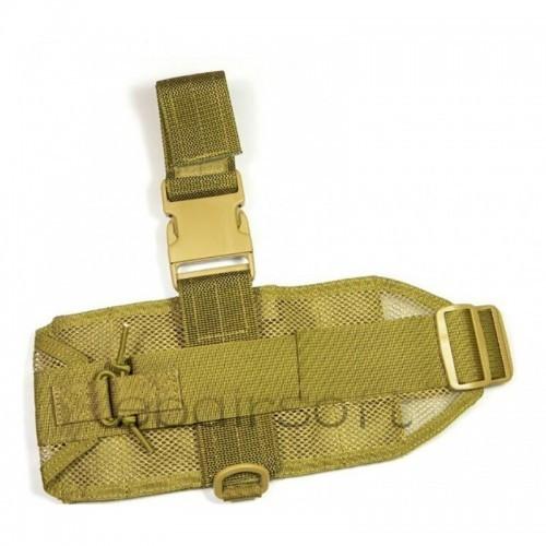 TMC Mini Molle Modular Drop Leg Panel (Khaki)