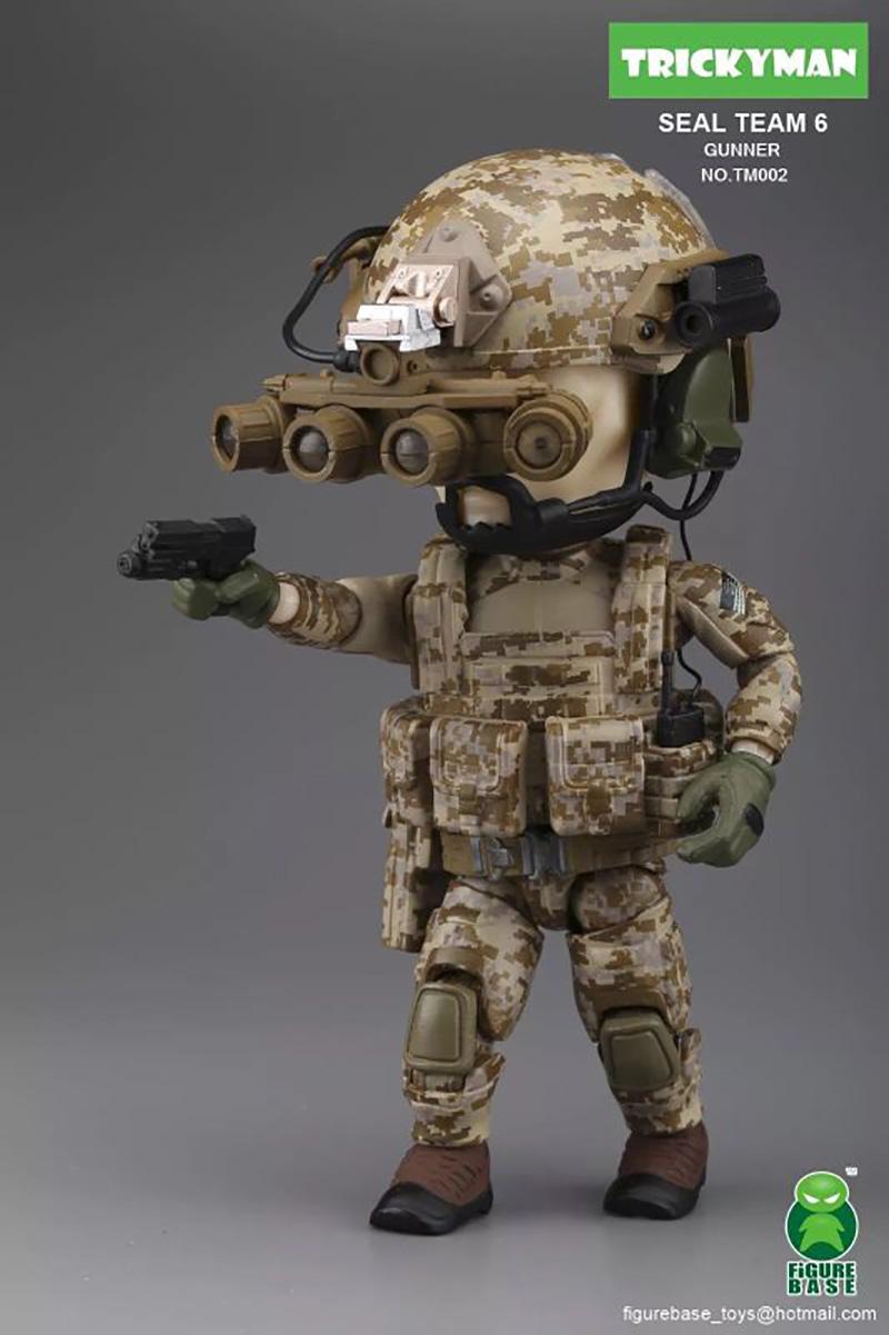 Figurebase 5 inch Seal Team 6 Gunner Figure